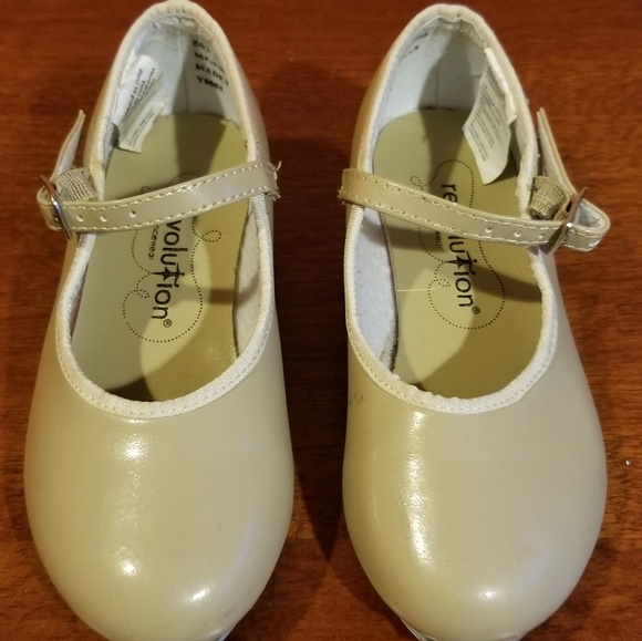 Revolution Dancewear Size 1 AD Black~ Used Mary Jane Tap Dance Shoes